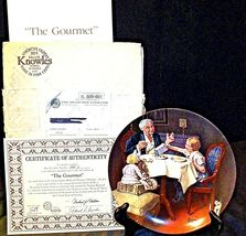 "1984 ""The Gourmet"" by Norman Rockwell Plate with Box ( Knowles ) AA20-CP2282 Vin image 3"