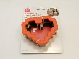 Rosanna Pansino 8-Bit Heart Comfort Grip Cookie Cutter (2310-3726) - Wilton