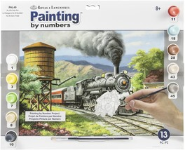 """Paint By Number Kit 15.375""""X11.25"""" No. 90's Daily Run - $11.63"""
