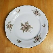 Johann Haviland Sepia Rose Dinner Plate 10 Inch Beige Pink Roses Flowers... - $9.85
