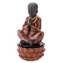Asian Buddha Statue, Meditating Buddha Statue, Little Sitting Monk Treas... - $18.65