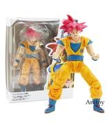 SHF S.H.Figuarts Dragon Ball Super Saiyan God Son Goku Red Hair Action Figure - $99.99