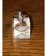 14k Yellow Gold Diamond & Sapphire Fashion Ring 4.1g Size 6 - $332.49