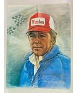 Buddy Baker Print Poster Winston NASCAR Painting 16 x 21 Race - $49.49