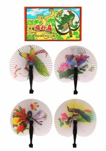 Chinese Paper Folding Hand Fan - One Fan with Random Color and Design image 2