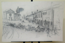 27 5/8x17 11/16in Drawing Pencil On Basket Large Studio Preparatory Author - $96.62