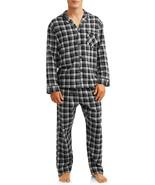 NWT Men Hanes Woven Black Flannel Pajama Set Stretch Elastic Waist  S M ... - $21.95