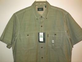 G. H. Bass new Shirt sz L Men's Button Front S/S Green NWT $50.00 - $22.00