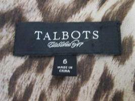 Women's leopard print skirt w/ tiered ruffles Size 6 by Talbot's MHELW125 - $9.66