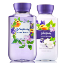 BATH & BODY WORKS Lavender & Spring Apricot Body Lotion + Shower Gel Set - $25.63
