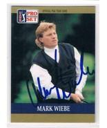 1990 Pro Set #29 Mark Wiebe RC  Auto - $29.65