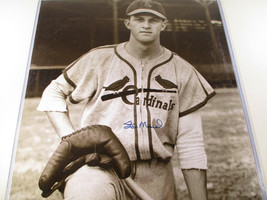 "STAN ""THE MAN"" MUSIAL / AUTOGRAPHED 16 X 20 CARDINALS 1942 ROOKIE PHOTO / HOLO image 1"