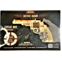 ROKR Justice Guard Corsac M60 Revolver Assemble Wood Gun Rubberband Robo... - $7.92