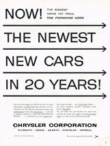 Vintage 1957 Magazine Ad Chrysler Corporation The Newest New Cars In 20 ... - $5.93