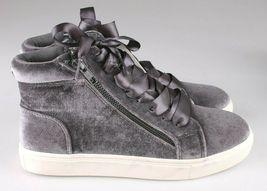 Brand New Women's Sara High Top Grey Velvet Sneakers Mossimo Supply Co image 3