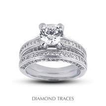 4.24ctw J-SI1 Ideal Round AGI Genuine Diamonds 14k Gold Classic Matching... - $6,495.39