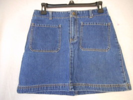 Size 4 Gap  Blue Denim Skirt 100% cotton - $14.84