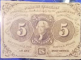 1862 5C Cent Jefferson Paper U.S. Fractional Currency Note Civil War - $39.95