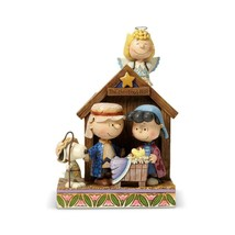 """Jim Shore Peanuts Christmas Pagent """"The Christmas Play"""" 7.5"""" Charlie Brown, Lucy"""