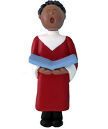 Choir Singer Male African-American Personalized Christmas Tree Ornament - $14.95