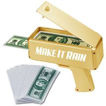 NEW!  MAKE IT RAIN GOLD SPRAY GUN - MONEY SHOOTER - PARTY CELEBRATION MONEY - $17.61