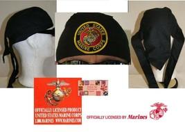 US MARINES USMC SEAL FITTED LINED Tied Bandana HEAD WRAP DO DOO RAG Skul... - $11.91