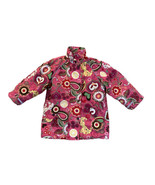 Hanna Andersson Girls Insulated Jacket Coat Size 100 (4) Pink Floral Flo... - $16.66