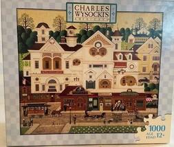 Charles Wysocki 1000 Piece Jigsaw Puzzle Game Derby Square Retail Shop - $26.24
