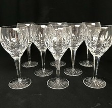 """8 Waterford Ireland Cut Glass Crystal Ballymore 7-1/2"""" Water Wine Goblet... - $554.43"""