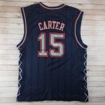 d625d945597 Vintage 2000s Vince Carter New Jersey Nets Pin Stripe Reebok Navy Blue NBA  Baske - $40.00