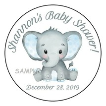 """12 Boy Baby Shower Party Stickers Favors Labels tags 2.5"""" Cute Elephant ... - $4.99"""