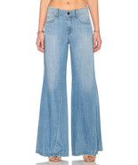 NWT LEVEL 99 TYLER CLEAR WATER TWISTED WIDE LEG JEANS 27 - $84.99