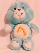 "Vintage 1983 Kenner Care Bears WISH BEAR 13"" Stuffed Plush Blue Shooting... - $22.49"