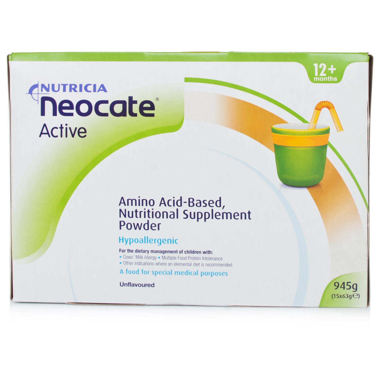 Neocate Active Unflavoured ( 15 X 63g) - $86.60