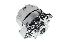 SBC BBC GM CHEVY Chrome 110 Amp Alternator with 1 Wire Setup 305 350 383 400 454