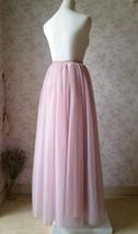 DUSTY PINK High Waisted Long Tutu Skirts Full Length Bridesmaid Tulle Skirts NWT image 2