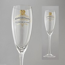50th Anniversary Toasting Glass Insignia Brand in Gift Box A Lifetime of Love