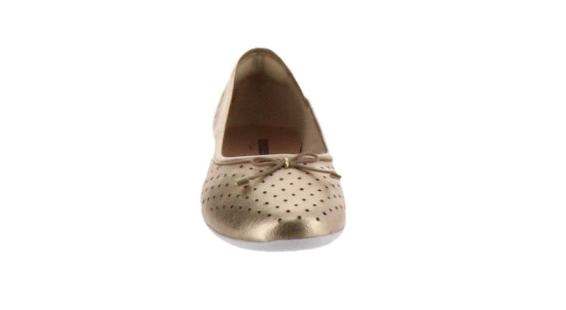 Clarks Perforated Leather Ballet Flats Gracelin Lea Metallic 7M NEW A306040