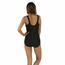 Speedo Women's Pebble Texture One-Piece, Black, Size 10 - $40.38