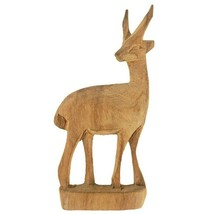 Vintage Wood Antelope Gazelle Deer Hand Carved Figurine Figure - $9.95