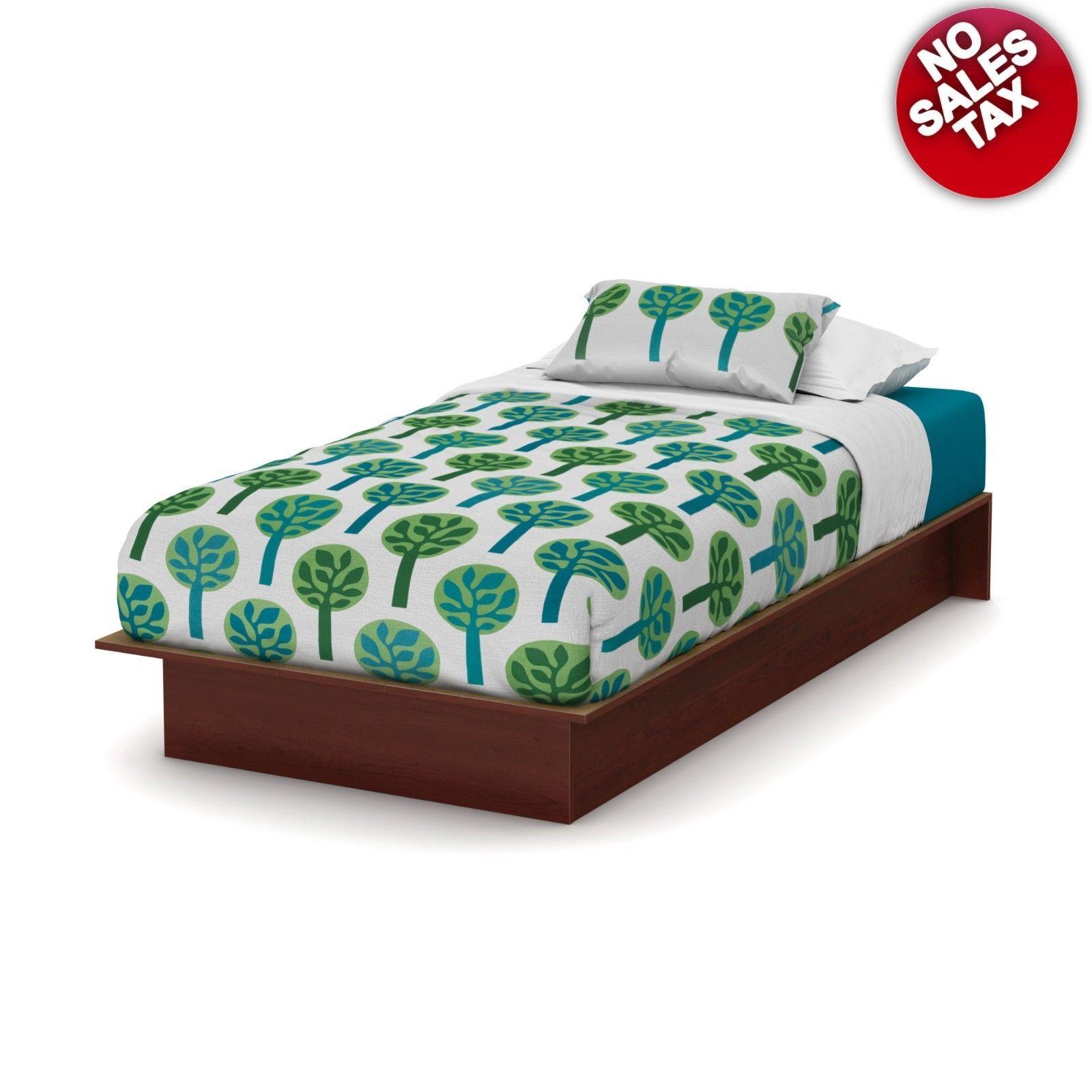 Platform Bed Frame Twin Size Kids Bedroom South Shore Multiple Color Furniture for sale  USA