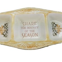 Divided Dish Autumn Fall Bounty of the Season 3 Section Serving Tray Cer... - $19.34