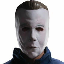 Michael Myers Coveralls Jumpsuit Costume with Mask, Plus Size, Halloween   - £36.78 GBP