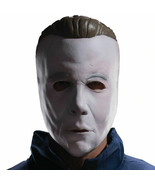 Michael Myers Coveralls Jumpsuit Costume with Mask, Plus Size, Halloween   - £37.38 GBP