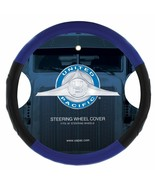 """18"""" Leather Steering Wheel Cover - Black & Blue - $49.49"""