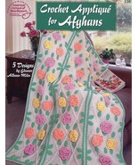 Crochet Applique for Afghans 5 Designs ASN 1301 PATTERN/INSTRUCTIONS Booklet NEW - $3.12