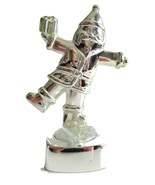 """Votive Candle Holder 6"""" Silver Plated Christmas Santa Figurine candle in... - $6.89"""