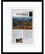1963 Colorado in Autumn Tourism Framed 11x14 ORIGINAL Vintage Advertisement - $41.71