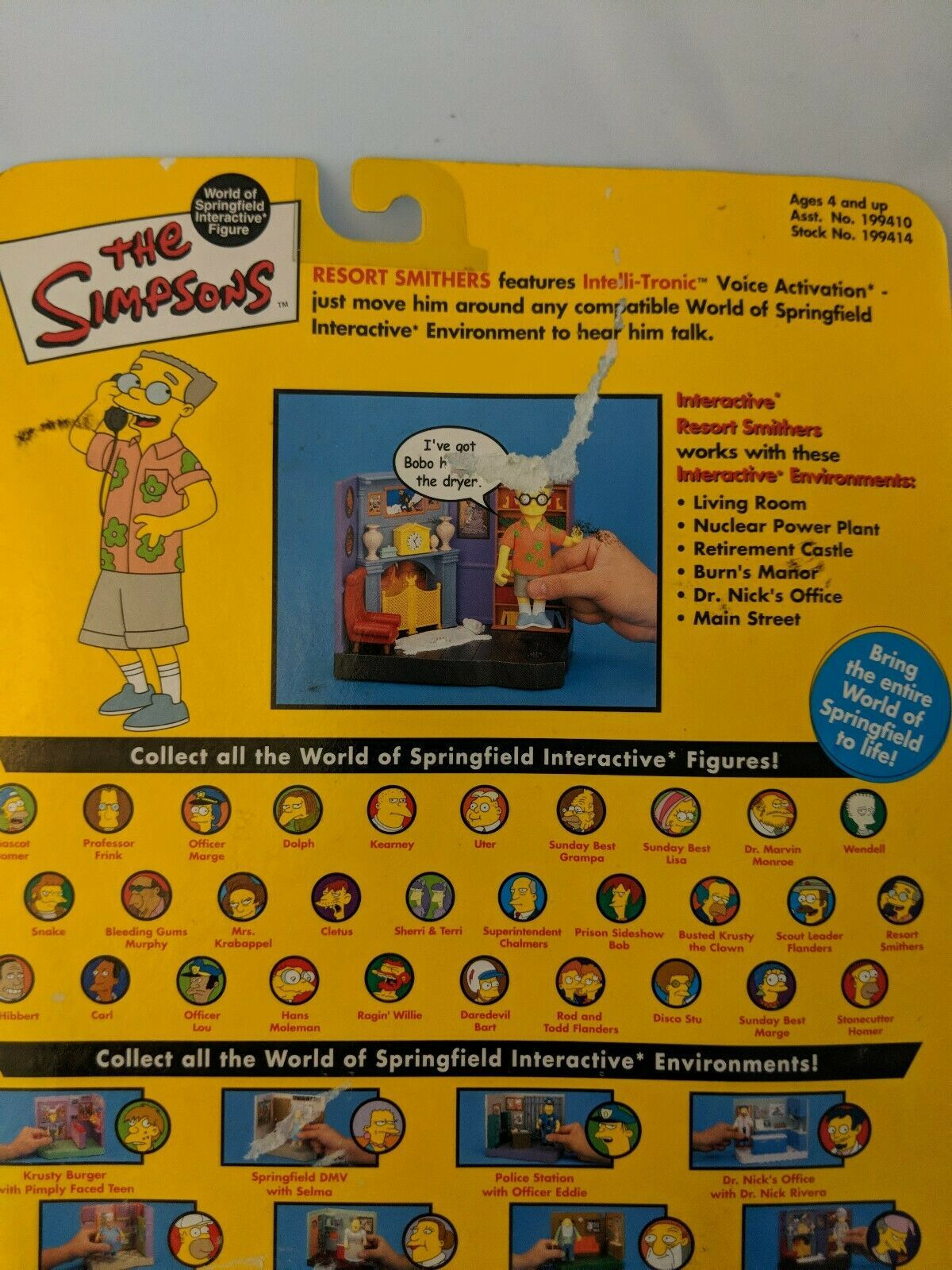 Simpsons Resort Smithers MOC Interactive Figure Toy Series 10 Playmates