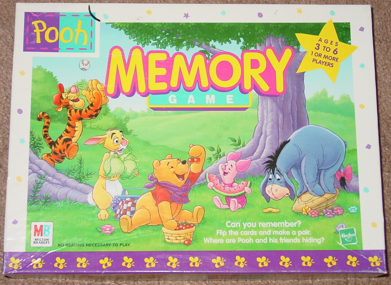 Primary image for MEMORY GAME POOH 1999 MILTON BRADLEY #04716 MADE IN USA COMPLETE
